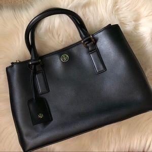 tory burch robinson double zip satchel